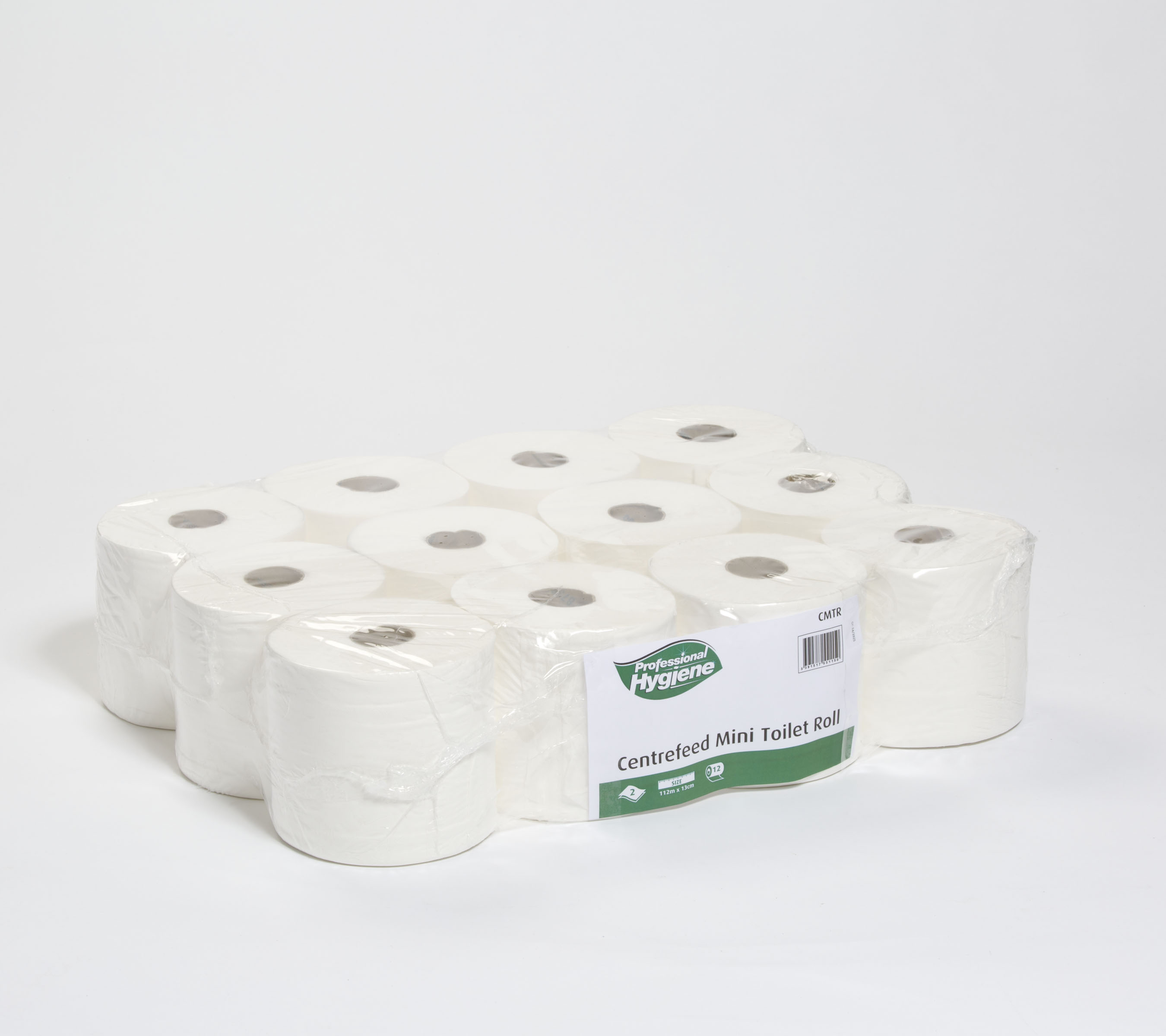 CENTREFEED MINI TOILET ROLL 2 PLY - 112M x 13CM image