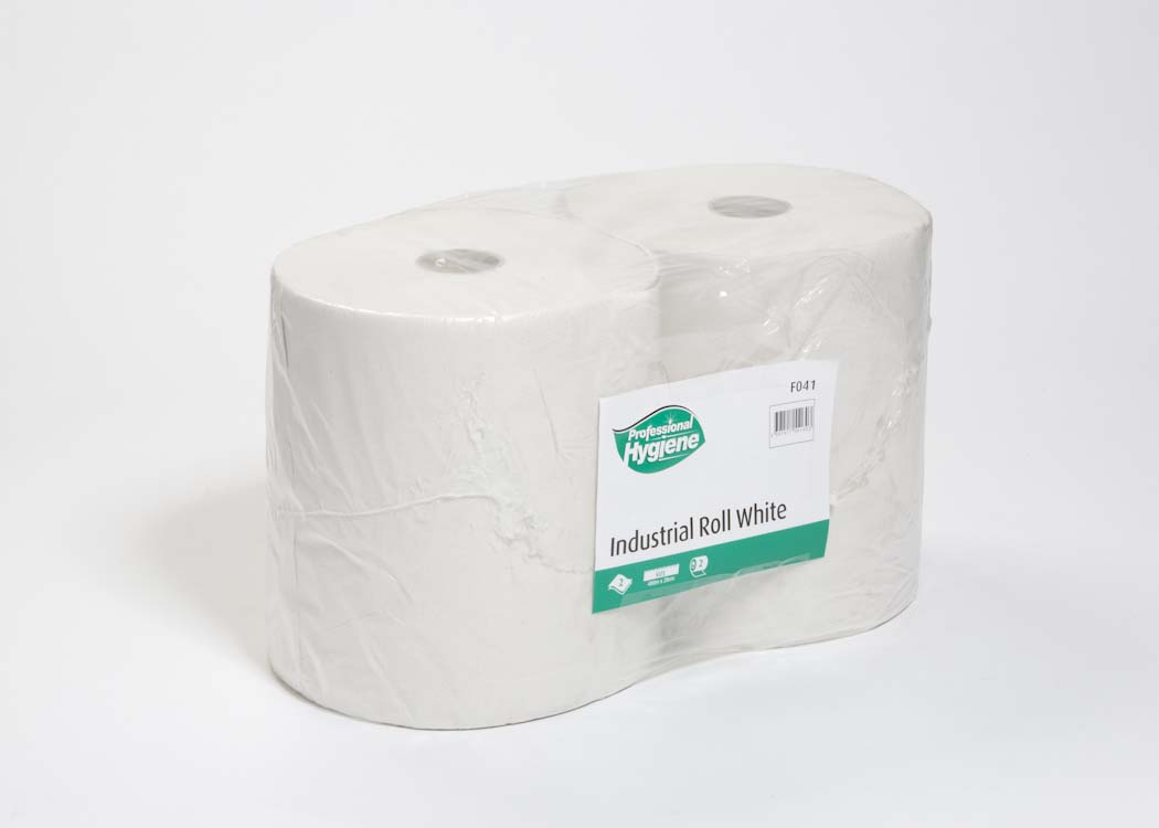 INDUSTRIAL ROLL 2 PLY WHITE - 400m x 27cm image