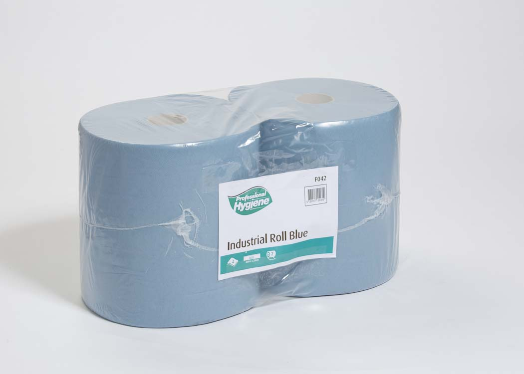 INDUSTRIAL ROLL 2 PLY BLUE - 400m x 27cm  image