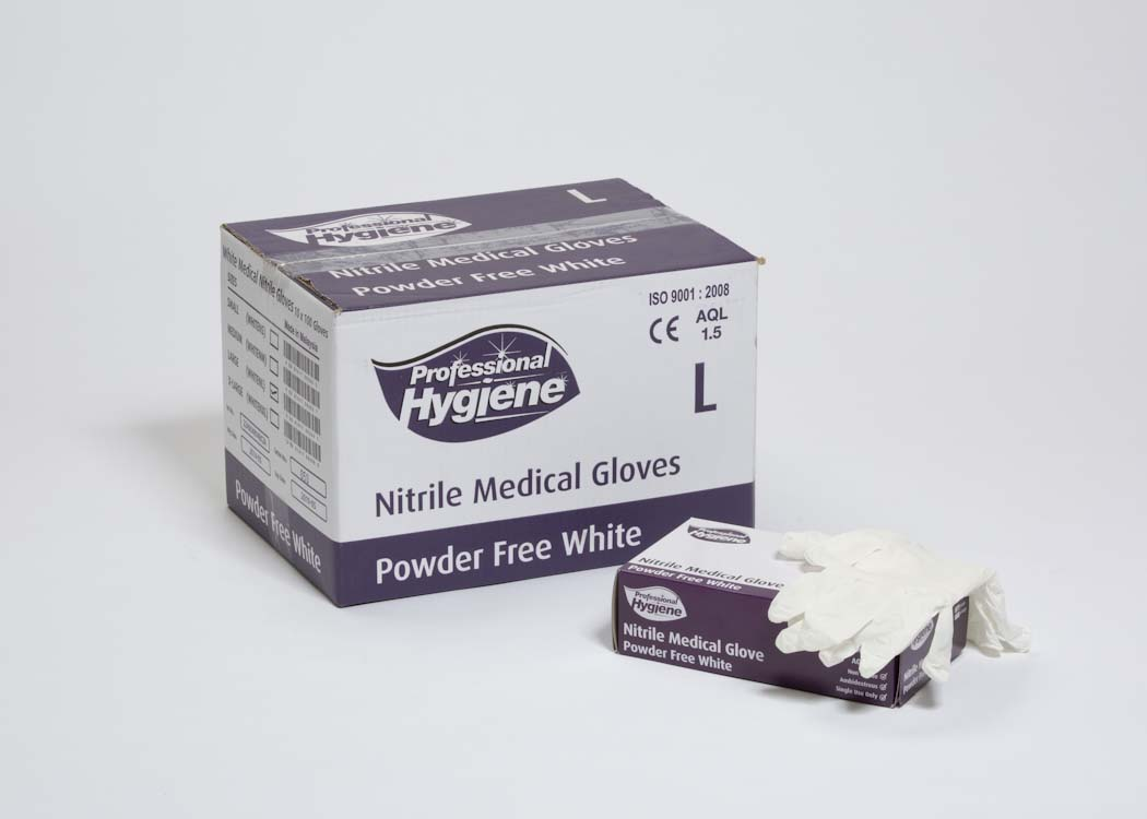 NITRILE WHITE POWDER FREE image
